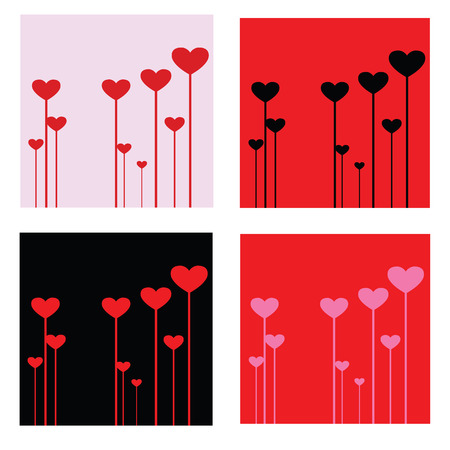 esp cards: Valentines Day heart vector illustration in different colors. background, wallpaper, invitation holiday card