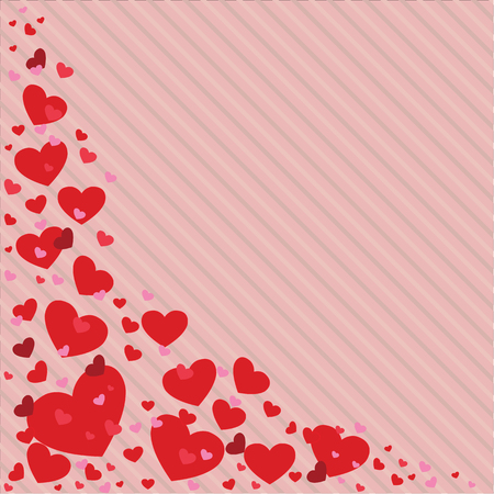 Valentines Day heart vector illustration in different colors. background, wallpaper, invitation holiday card