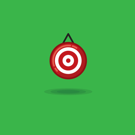 Vector illustration target on a green background