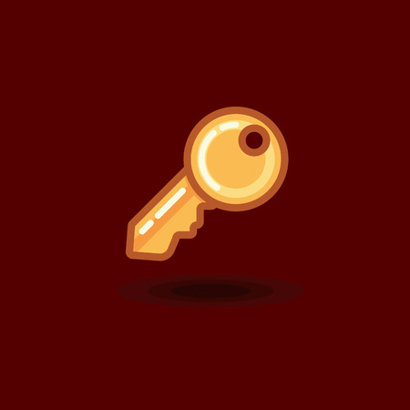 private access: Vector icon key isolated. Illustration flat key Illustration