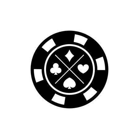 Poker chip for casino games. Casino chips for poker game. Vector illustration