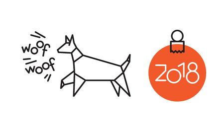 Symbol of New Year dog year.
