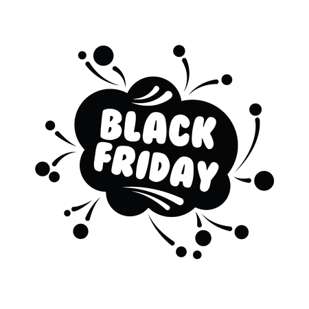 Big sale fifty percent on black Friday shopping on white background vector illustration. Vector picture autumn discounts in store on black Friday sale.