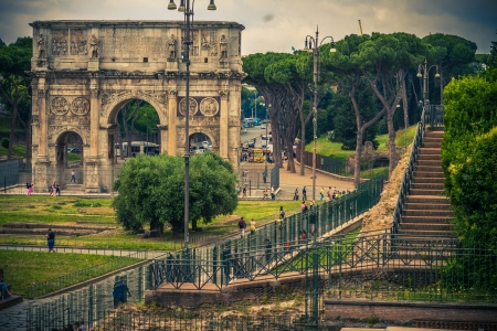 The triumphal arch in Rome  Italy Stock Photo - 18143223