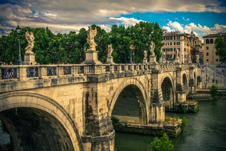 Ponte Sant Angelo. Roma. Italy. Stock Photo - 18143193