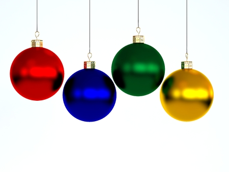 Happy New Year and Merry Christmas  Christmas-tree decorations photo