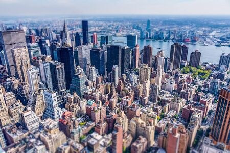 tilt: New York City, NY - October 3, 2013 - View from Empire State Building - Tilt Shift Effect