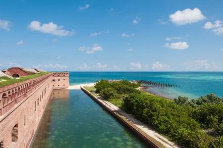 dry tortugas: View from the wall of the old fort in Dry Tortugas