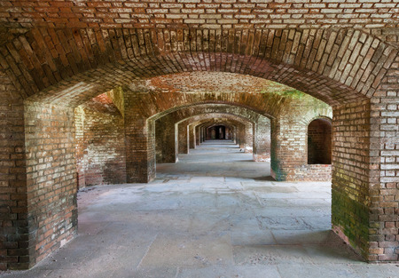dry tortugas: Brick arches at Dry Tortugas old fort