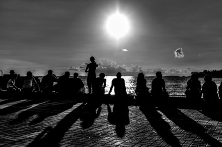 People watching sunset at Mallory Square, Key West, FL