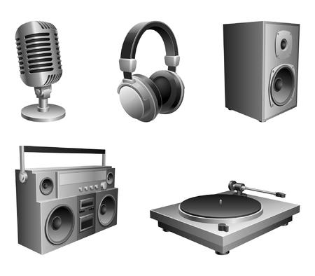 Music equipment. Vector