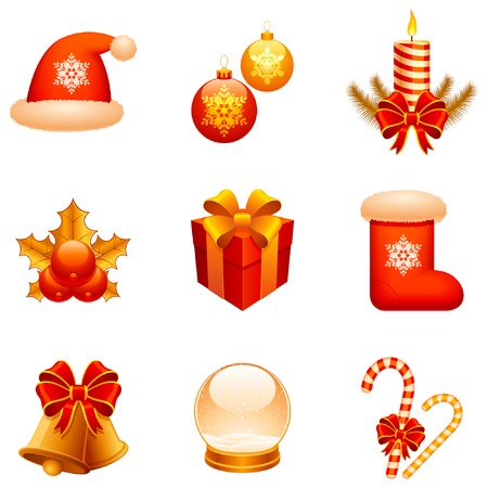 Christmas icons. Stock Vector - 6368152