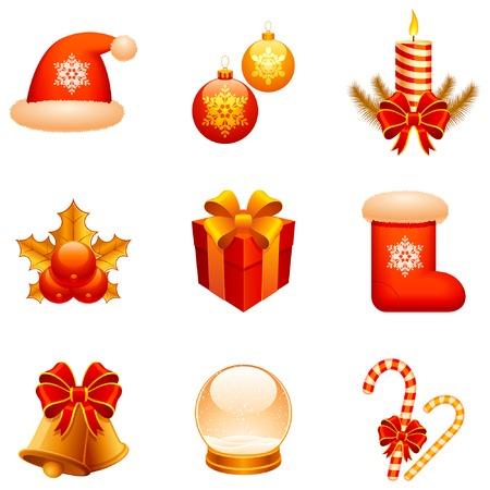 Christmas icons.