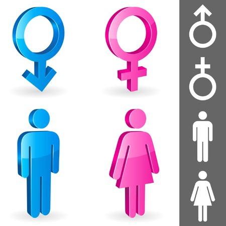 Gender symbols. Illustration