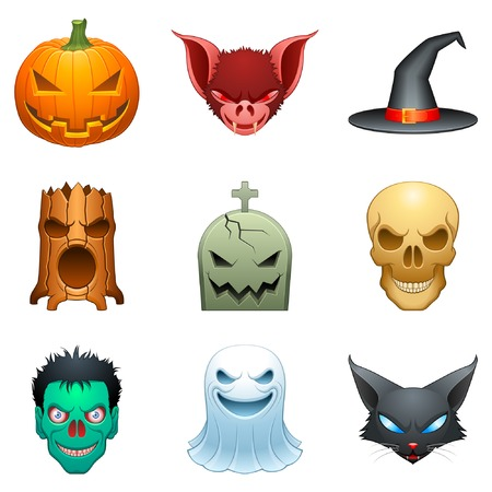 Halloween characters. Illustration
