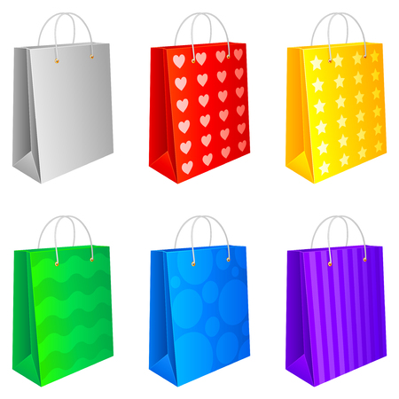Shopping bags. Vector