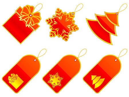 Christmas labels. Vector