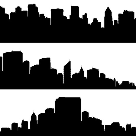 City silhouettes. Vector