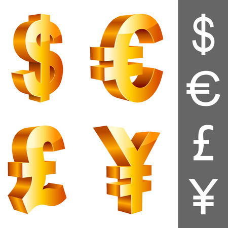 yen: Currency symbols.