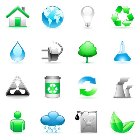 Environmental icons. Illustration