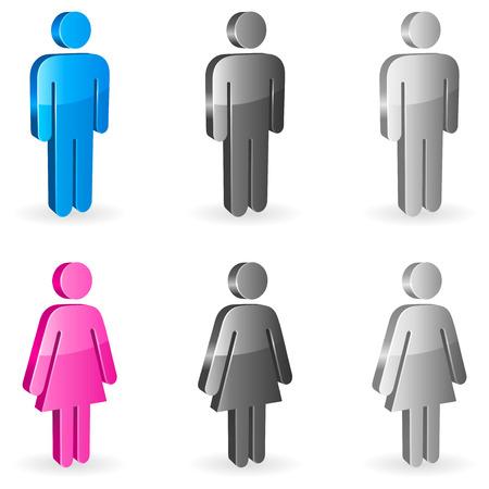 religious icon: Gender symbols. Illustration
