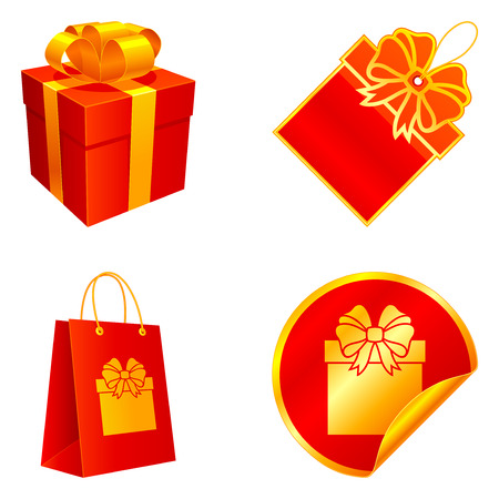 Gift elements. Vetores