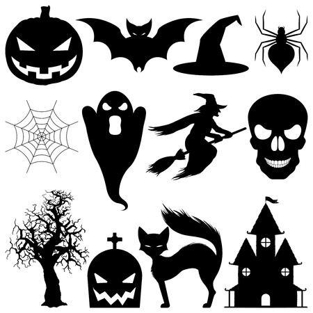 Halloween elements.