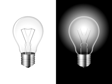 Light bulb. Vector