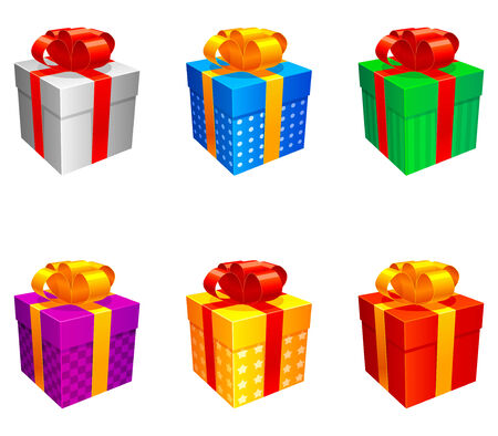 Gift boxes. Illustration