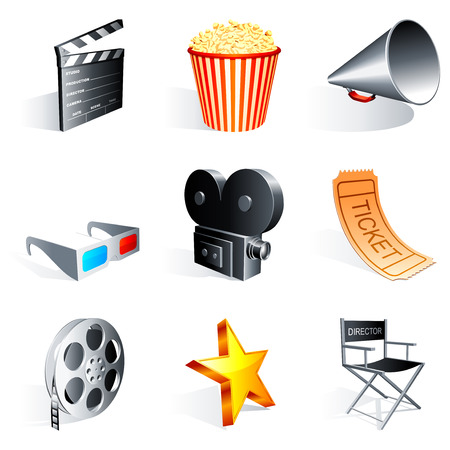 Movie icons. Stock Vector - 6611553