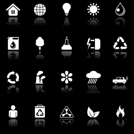 Environmental icons. Vector