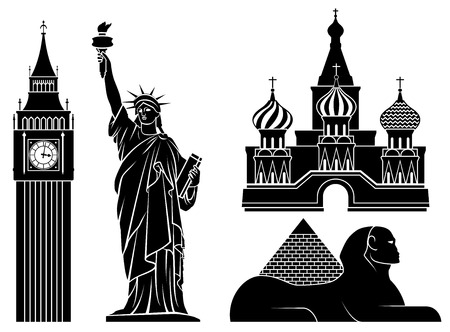 moscow city: Landmarks.