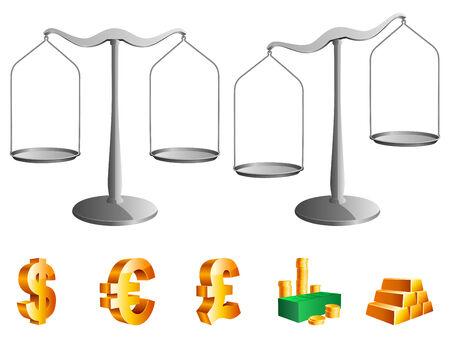 Scales. Vector