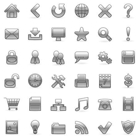 Web icons. Illustration