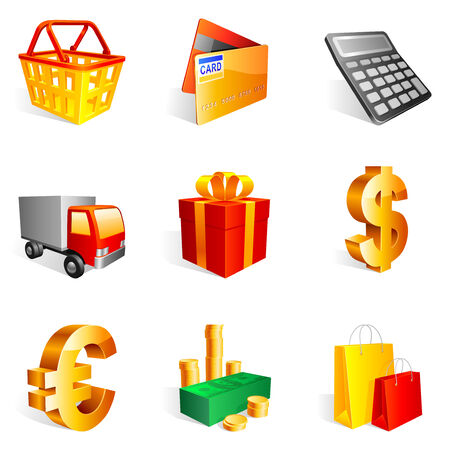 Shopping icons. Stock Vector - 6746709