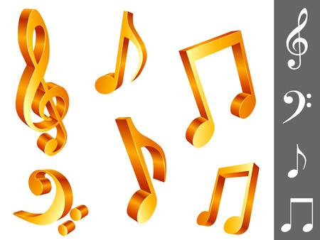 pentagrama musical: Notas de la m�sica.