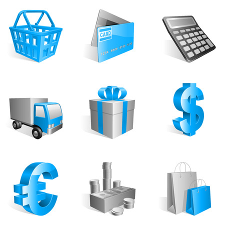 Shopping icons. Illustration