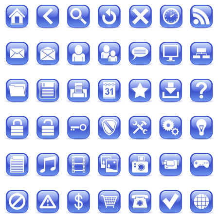 computer user: Web icons. Illustration
