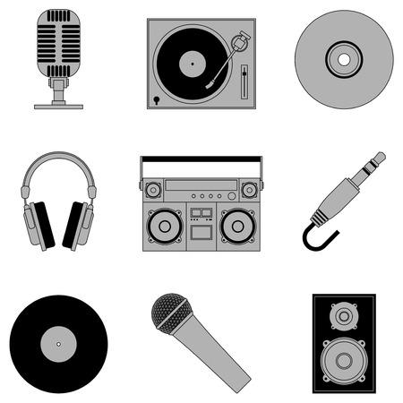pictogrammes musique: Ic�nes de la musique.