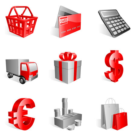 Shopping icons. Stock Vector - 6845883