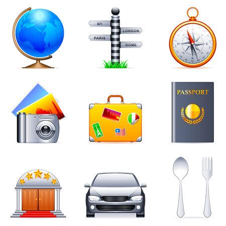 fourchette  route: Les ic�nes de voyage. Illustration