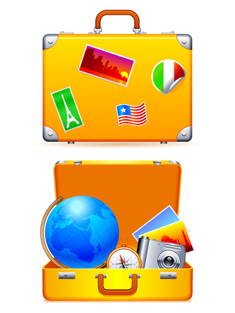 Travel suitcase. Stock Vector - 6911687