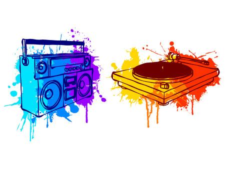giradisco: Attrezzature di musica.