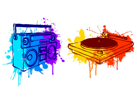 hip hop style: Music equipment.