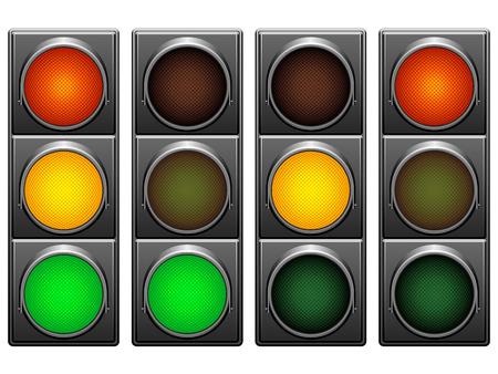 forbidden city: Traffic lights.