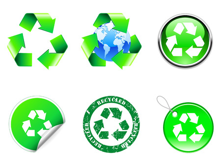 Recycle symbols. Stock Vector - 6911695