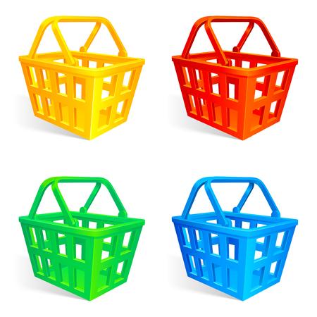 Shopping baskets. Vector