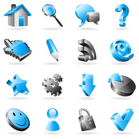favorite colour: Web icons. Illustration