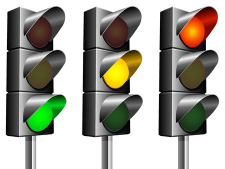 Traffic lights. Stock Vector - 6911702