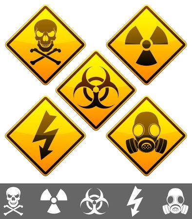 Señales de advertencia. Ilustración de vector